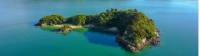 Aerial view of Fisherman's Island in Abel Tasman National Park |  <i>abeltasman.com</i>