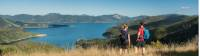 Taking in the amazing views from the top of the Queen Charlotte Track |  <i>MarlboroughNZ</i>