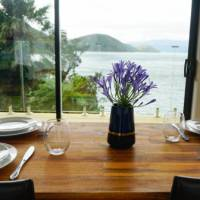 What better views could you ask for when dining in the Pelorus   Te Rawa Lodge
