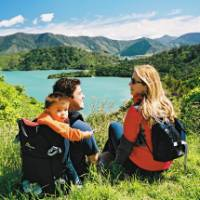 Taking a break on the Queen Charlotte Track |  <i>MarlboroughNZ</i>