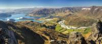 Panorama of lake Wanaka, Glendhu Bay and Matukituki valley from Buchanan peak, Otago | Colin Monteath