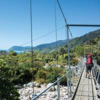 Hiking along the Heaphy Track in the Kahurangi National Park
