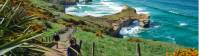 Walking up from the spectacular Tunnel Beach |  <i>DunedinNZ</i>