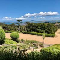 Immaculate wineries on Waiheke provide stunning views and a rest whilst doing the Te Ara Hura.   Natalie Tambolash